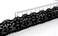 Čipka na nechty č.16 -  Čierna