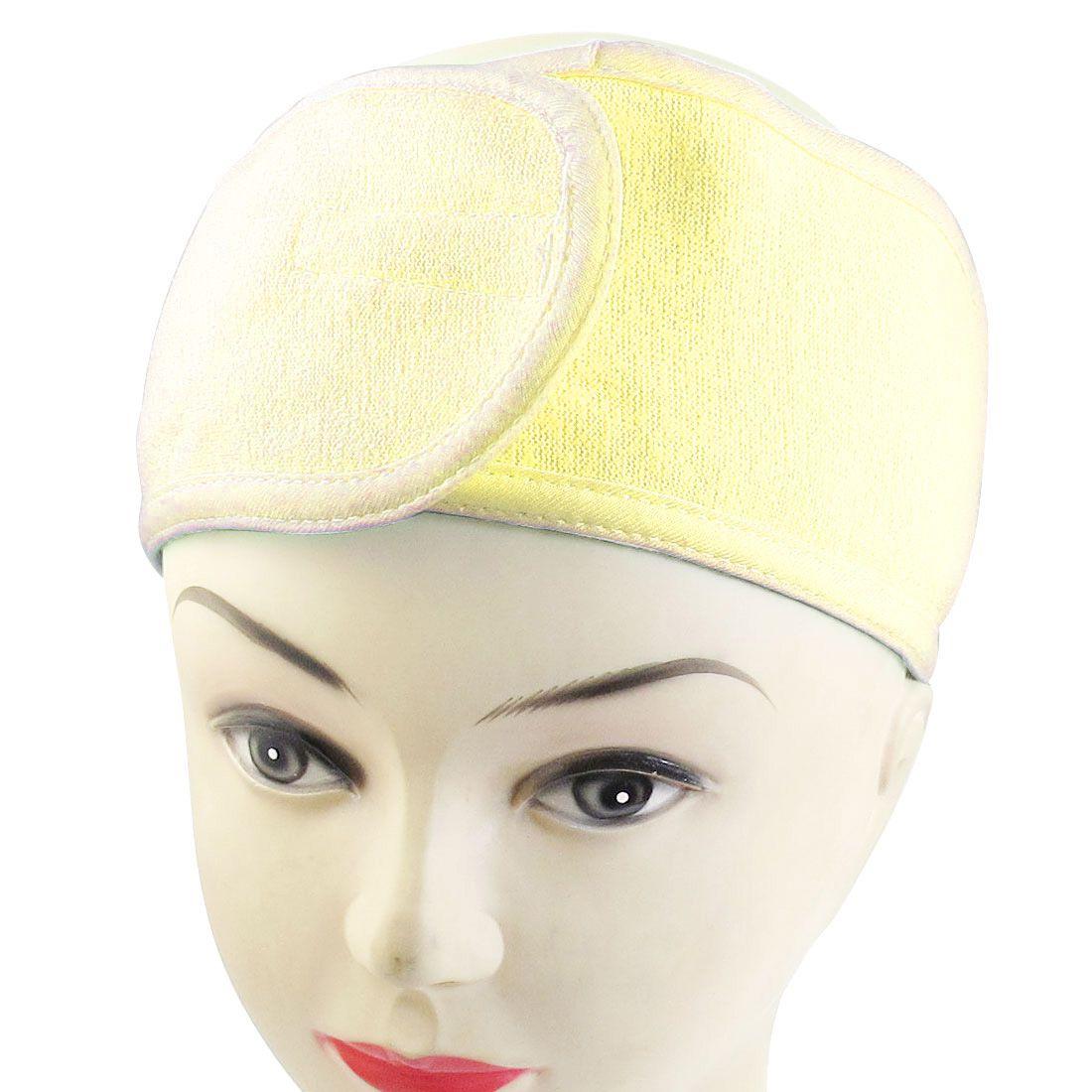 Froté kozmetická čelenka - žltá