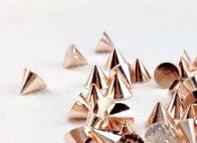 Ostne na zdobenie nechtov - ružové zlato