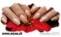 gelove nechty zlate zdobenie francuzska manikura