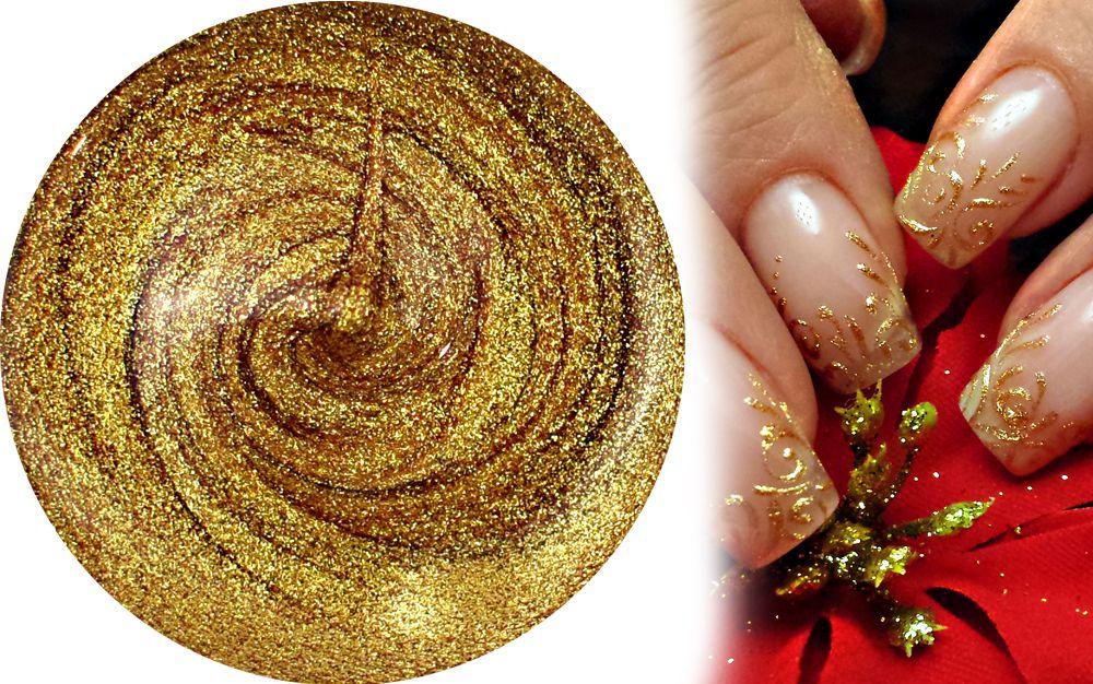 zlaty husty farebny uv gel na vyplnanie a zdobenie