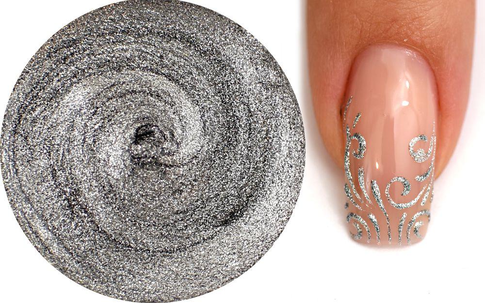 zdobiaci uv gel na nechty strieborny vhodny na kreslenie a vyplnanie