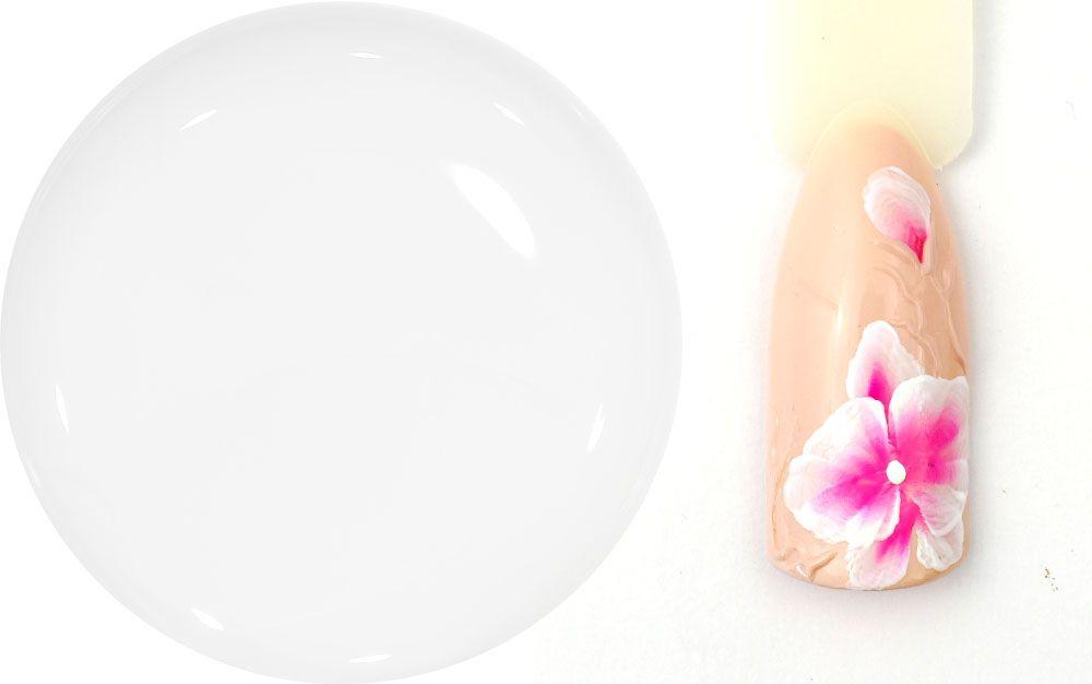 biely hustejsi uv gel na zdobenie nechtov