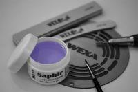 Saphir - Stredne riedky jednofázový gél na modeláciu 100ml