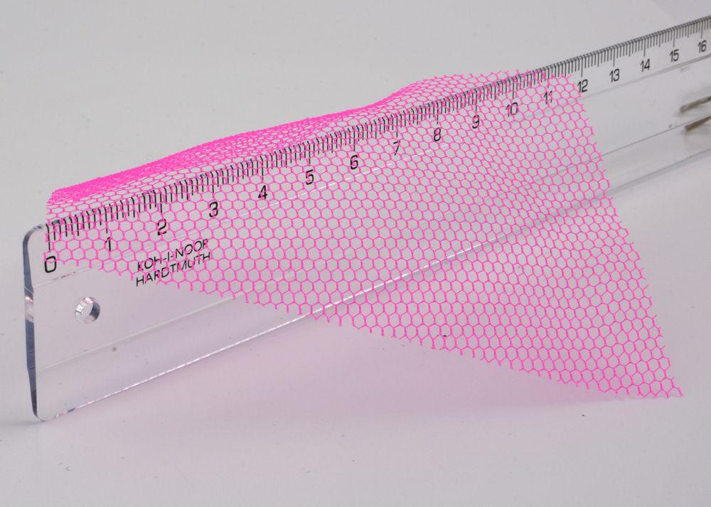 Sieťka očková č.57 - krikľavo ružová