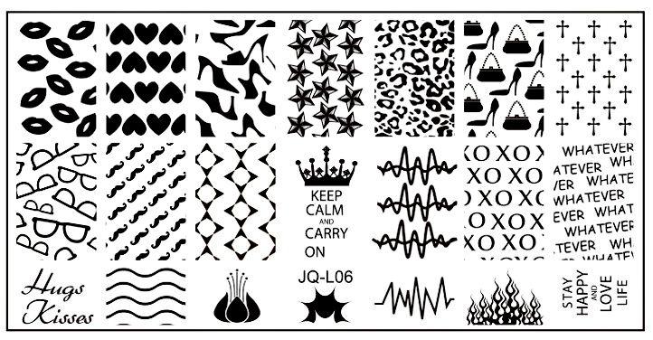 Stamping Nail Art platnička na nechty JQ-L06
