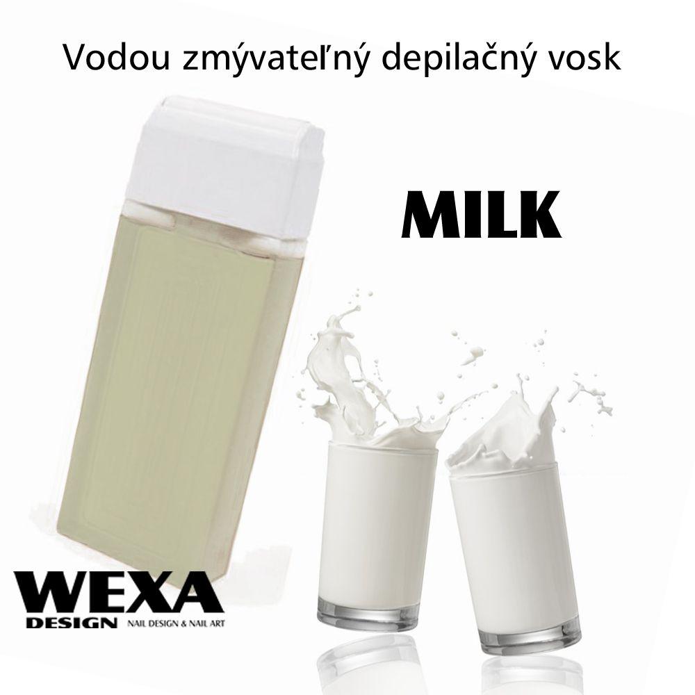Vodou zmývateľný depilačný vosk - Milk