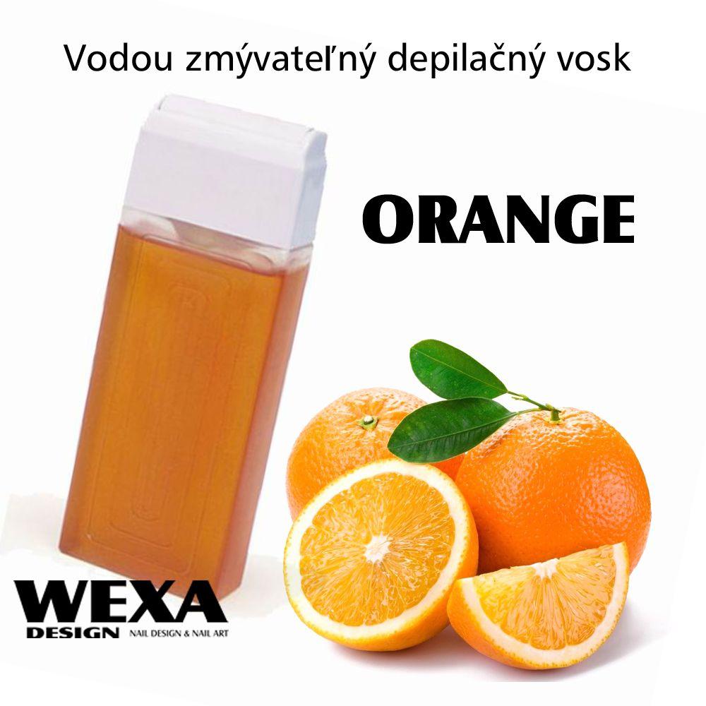 Vodou zmývateľný depilačný vosk - Orange