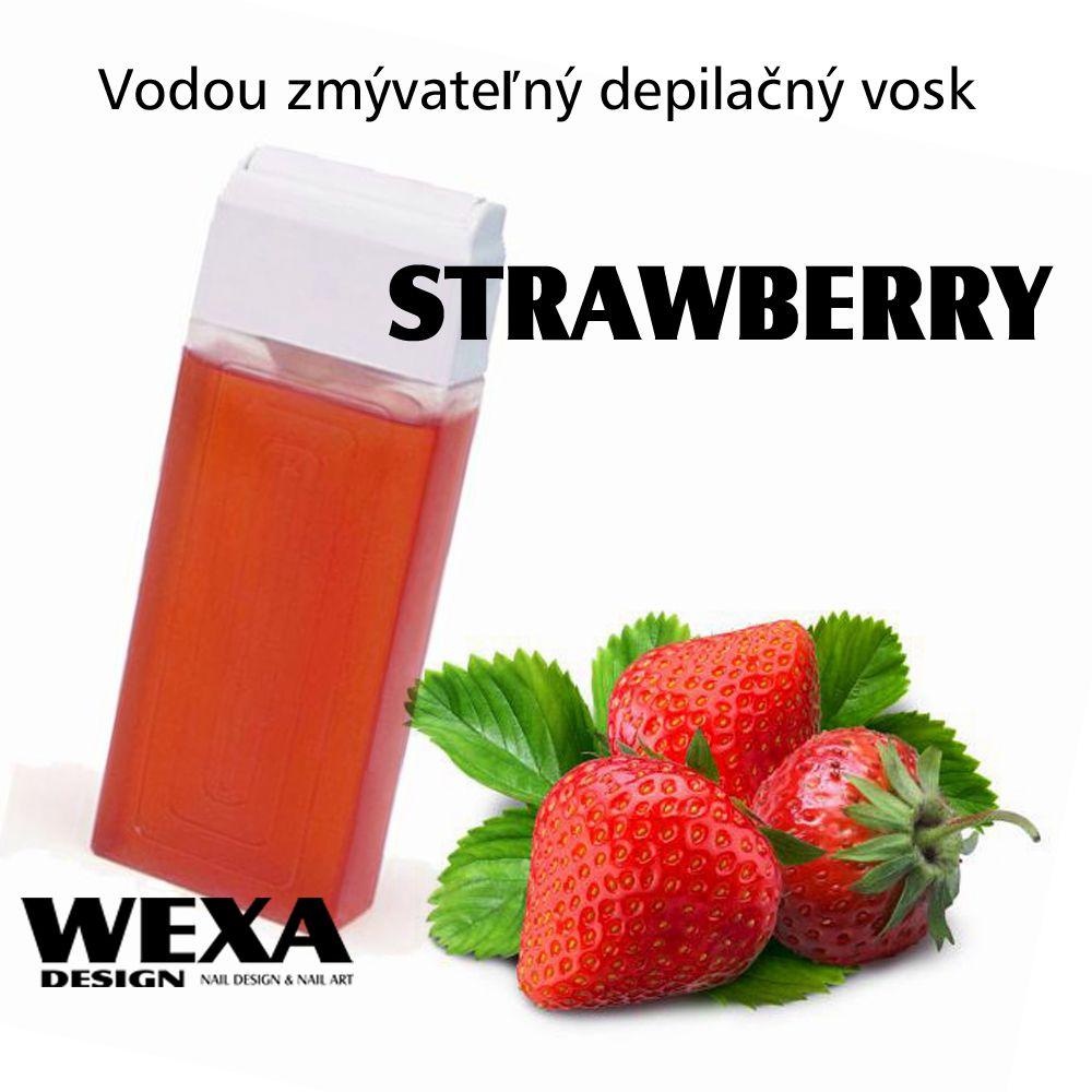 Vodou zmývateľný depilačný vosk - Strawberry