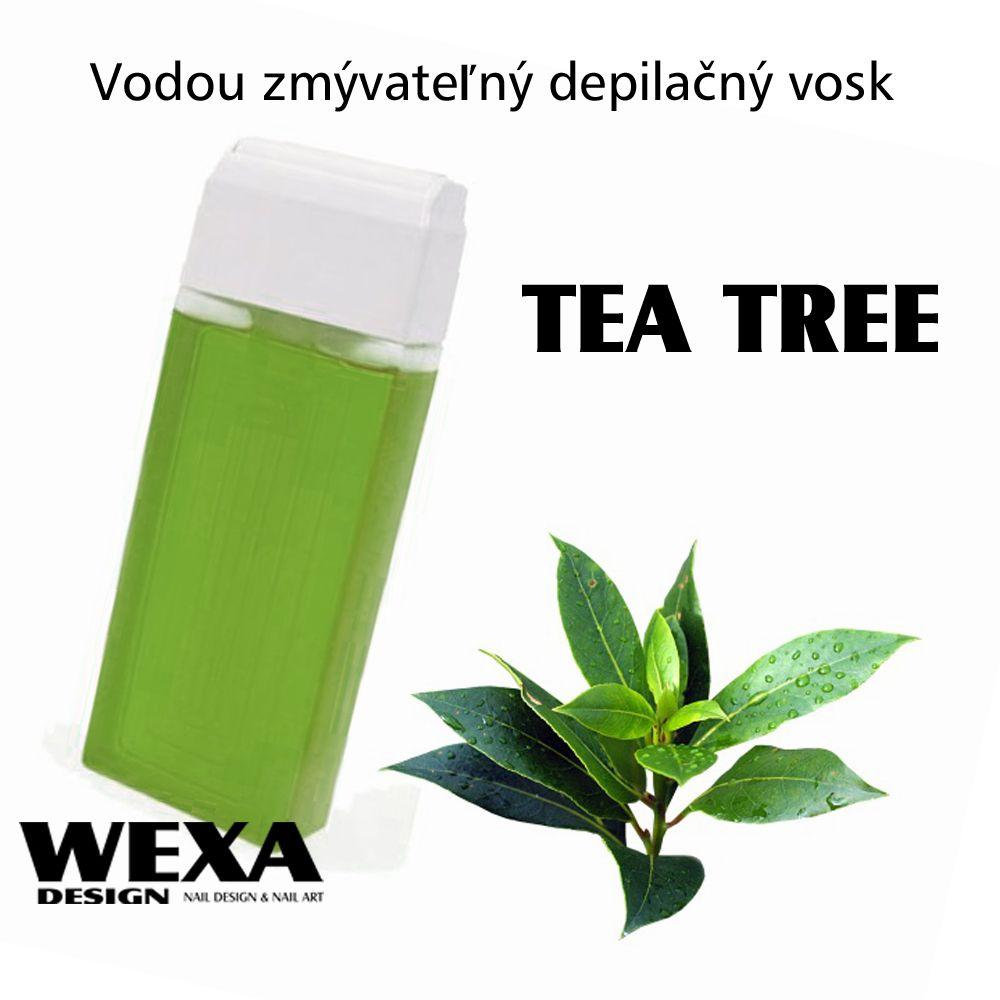 Vodou zmývateľný depilačný vosk - Tea Tree