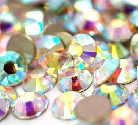 ZIRKONIUM kamienky na nechty AAA Quality - Crystal AB