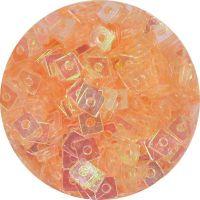 Konfety štvorčeky  - 18. marhuľové aqua