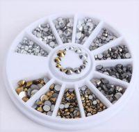 Metalické kamienky v malom kolotoči