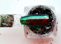 metalicke menive prasky chameleon na nechty