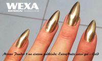 chromové zrkadlové zlaté nechty