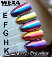 farebne odlesky zrkadlovych praskov na nechty