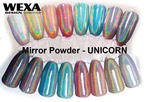 Mirror Powder - UNICORN holografický prášok