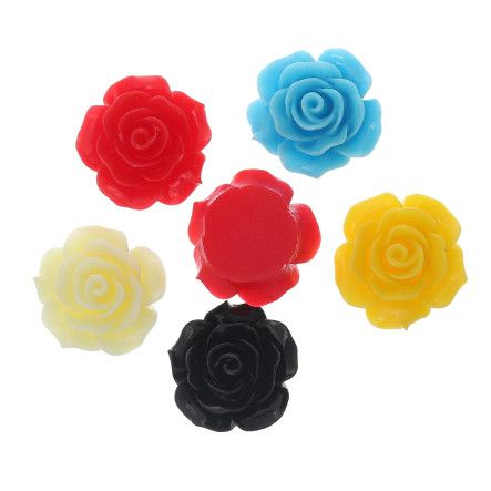 Plastové 3D ružičky na nechty - MIX