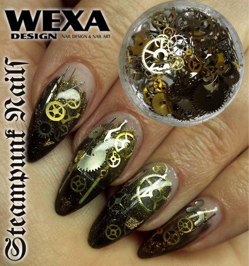 Steampunk nails - komponenty na nechty