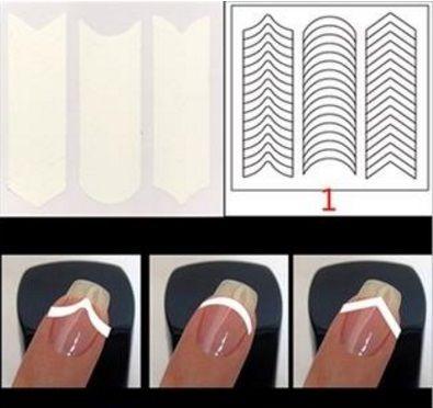 Samolepiace šablónky na francúzsku manikúru - French sada 24 vzorov