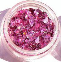 Konfety slzičky - 5.ružové metal hologram