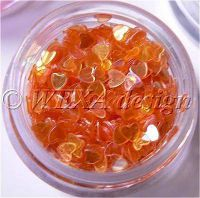 Konfety srdiečka - 15.oranžové aqua