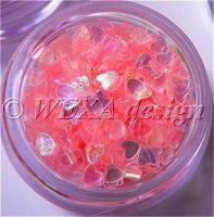 Konfety srdiečka - 17.ružové aqua