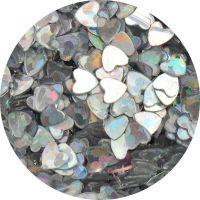 Konfety srdiečka - 29.strieborné metal hologram