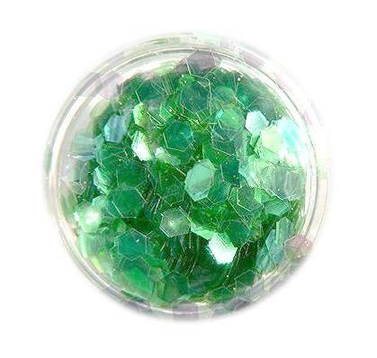 Konfety hexagony - bledozelené aqua