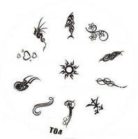 Tribal Stamping Nail Art platnička - T04