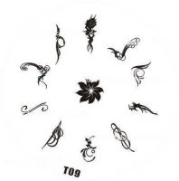 Tribal Stamping Nail Art platnička - T09