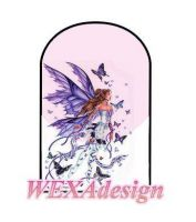 Nail Tattoos - Butterfly Fairy Blue L -7
