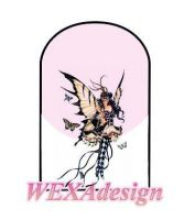Nail Tattoos - Fairy Harlequin L -13