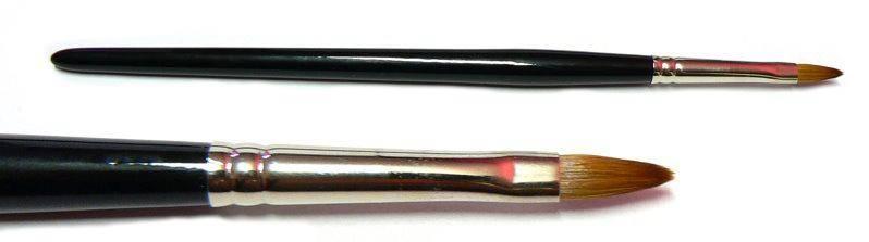Štetec na UV gél - High mačací jazýček č.6