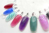 Farebný akryl s kúskami perlete - P6