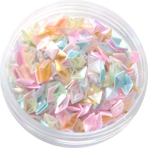 3D ozdoby na nechty - Piky konfety na gélové nechty
