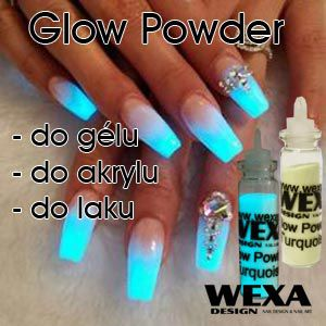 Fosforový prášok na nechty Glow in the dark nails