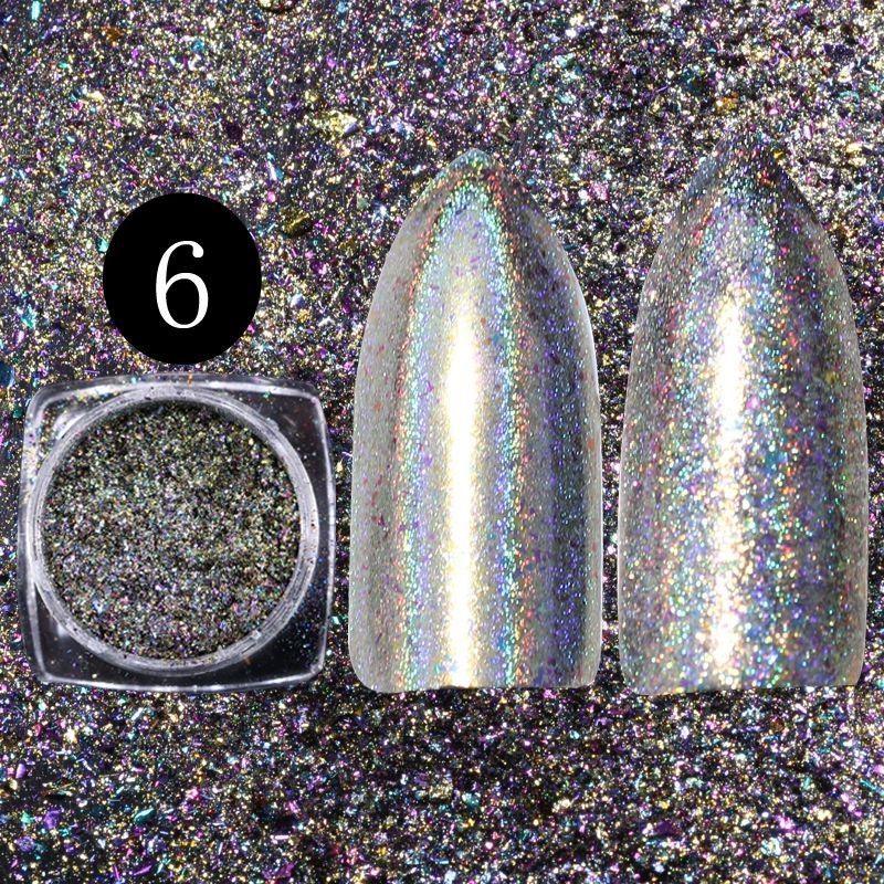 Holographic Chameleon Flakes na nechty 6