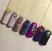 Mini Gemstone kamienky na nechty 6 druhov