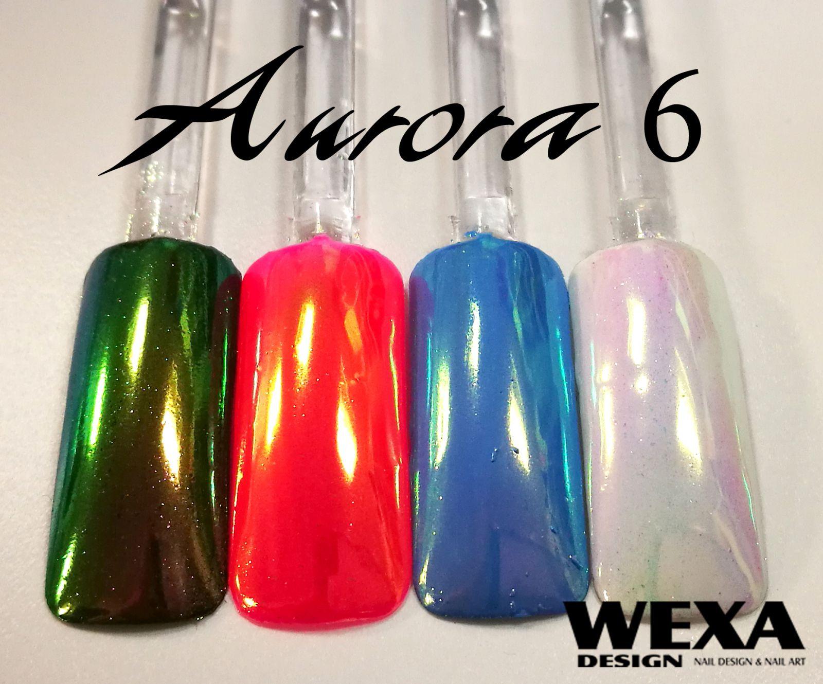 Mirror Powder - pigment na nechty AURORA 6 prášok