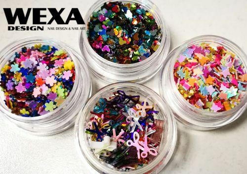 Ornamenty na nechty farebný MIX