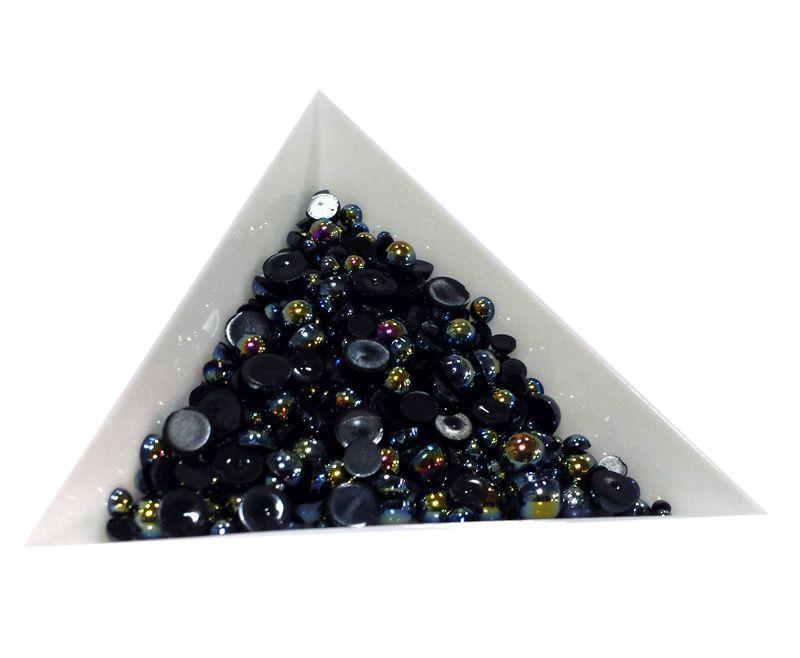 Pol Perličky na zdobenie nechtov Mini Mix Black AB 7