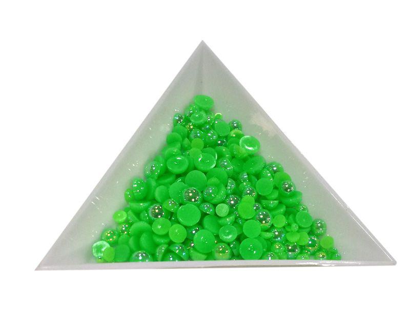 Pol Perličky na zdobenie nechtov Mini Mix Green AB 12