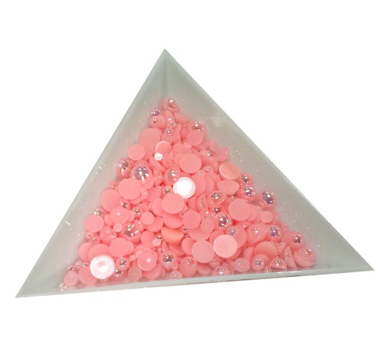 Pol Perličky na zdobenie nechtov Mini Mix Pink AB 18