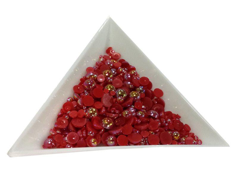 Pol Perličky na zdobenie nechtov Mini Mix Red AB 10