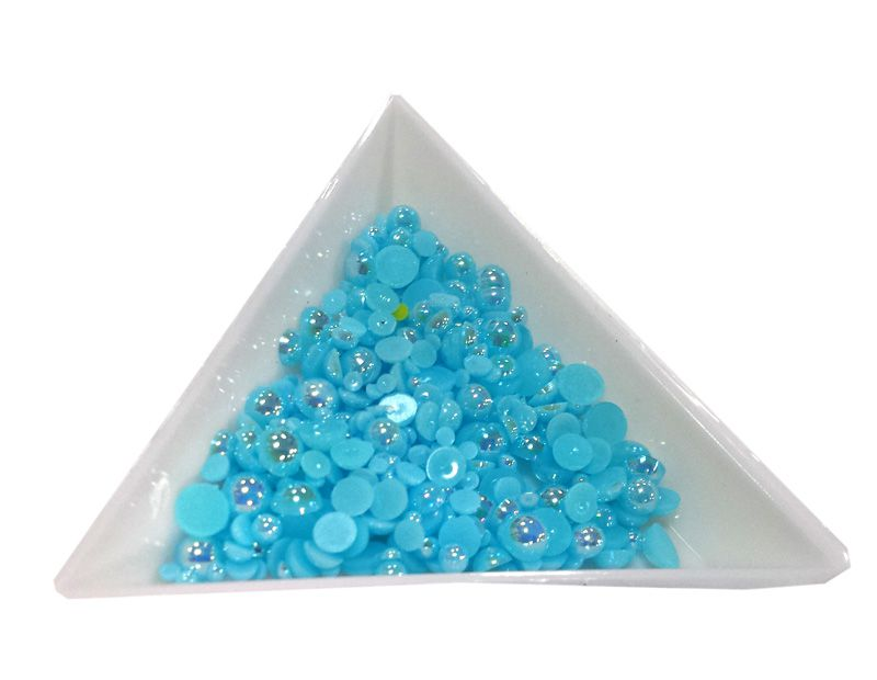 Pol Perličky na zdobenie nechtov Mini Mix Turquoise AB 17