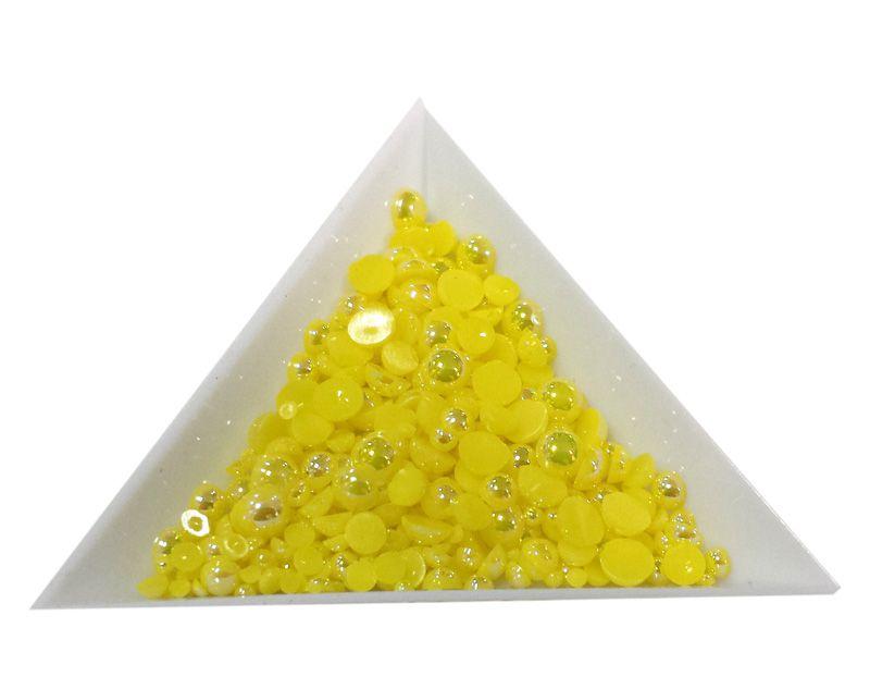 Pol Perličky na zdobenie nechtov Mini Mix Yellow AB 19