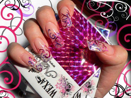Tribal stickers - holografické samolepky na nechty