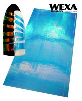 Holografické nálepky na nechty - Pásiky Blue