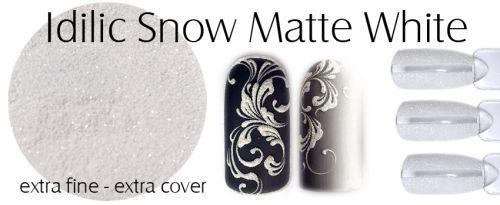 Idilic snow Matte White - matný jemný prášok na nechty